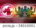 テーブル 会社 企業のイラスト 38010001