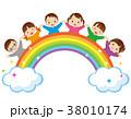 虹 子供 幼児のイラスト 38010174