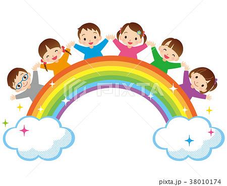 虹と子供たち 38010174