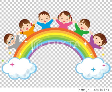 彩虹和孩子们 38010174