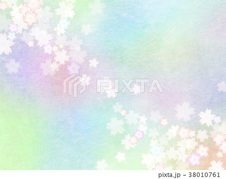 背景-桜-和紙-春 38010761