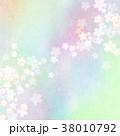 背景 和紙 桜のイラスト 38010792