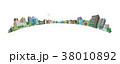 都市の景観 / ベクターイラスト 38010892