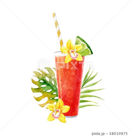 Watercolor smoothie illustration 38010975