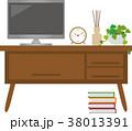 テレビ インテリア インテリアボードのイラスト 38013391