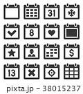 カレンダー 暦 アイコンのイラスト 38015237