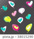 ハート ハートマーク 心臓のイラスト 38015290