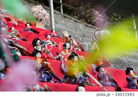 雛人形 -備前片上ひなめぐり 宇佐八幡宮 石段ひな飾り(62段およそ300体)- 38015983