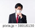 若い男性(マスク) 38016130