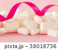 マシュマロ お菓子 洋菓子 リボン 38016736