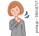 肩凝りの女性 38018717