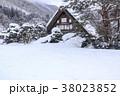 白川郷 冬 合掌造りの写真 38023852
