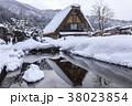 白川郷 冬 合掌造りの写真 38023854