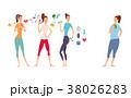 トレーニング ワークアウト 女性のイラスト 38026283