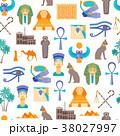 Cartoon Symbol of Egypt Seamless Pattern 38027997