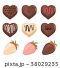 チョコレート いちご イチゴのイラスト 38029235