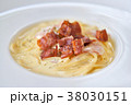 Spaghetti Carbonara with crispy bacon 38030151