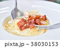 Spaghetti Carbonara with crispy bacon 38030153