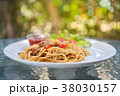 Spaghetti with chicken. 38030157