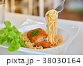 Spaghetti with spicy fried chicken 38030164