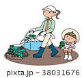 畑 耕す 耕運機のイラスト 38031676