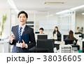 スマホ ビジネスマン ビジネスの写真 38036605