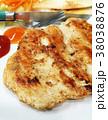 Chicken Steak On White Plat 38038876