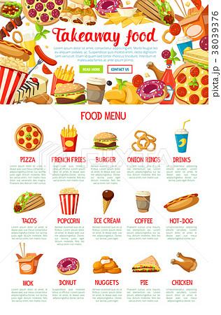 Fast food restaurant menu web banner design 38039376