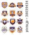 サッカー ベクトル クラブのイラスト 38039434