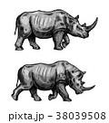サイ さい 犀のイラスト 38039508