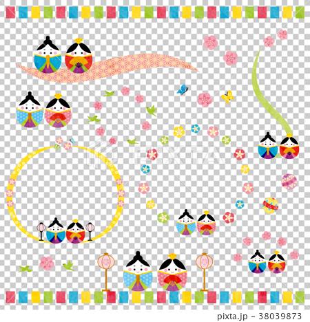 素材-桃の節句(テクスチャ) 38039873