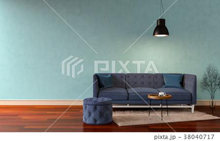 3D rendering of interior modern living room  38040717