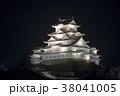 兵庫県姫路市 世界遺産 姫路城の夜景 38041005