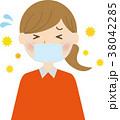 風邪 花粉症 辛いのイラスト 38042285