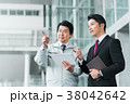 ビジネスマン ビジネス タブレットの写真 38042642