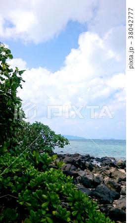 南国 ハワイ オアフ島 空と海 38042777