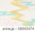 川 雲 和風のイラスト 38043474