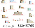 桜 建物 立体 38045765