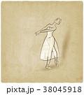 ダンス 踊る ダンシングのイラスト 38045918