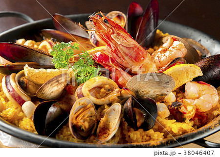 美味しい海鮮の鉄板焼き 38046407