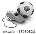 ホイッスル 笛 サッカーのイラスト 38050328