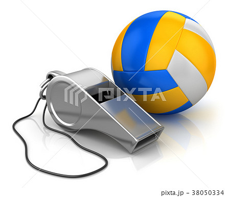 Whistle and Volleyball 38050334