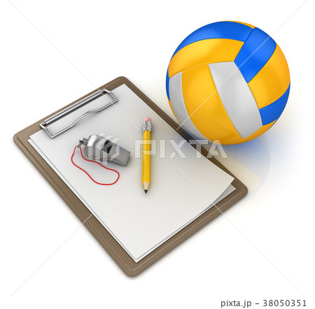 Notepad with Volleyball 38050351