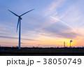 工業地帯・夕景 38050749
