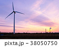 工業地帯・夕景 38050750