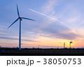 工業地帯・夕景 38050753