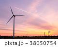 工業地帯・夕景 38050754