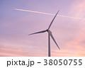 風力発電・夕景 38050755