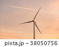 風力発電・夕景 38050756