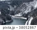 鉄道 雪 乗り物の写真 38052867